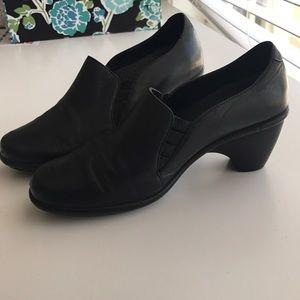 DANSKO • Black Leather Heeled Booties Sz 38 (US 8)